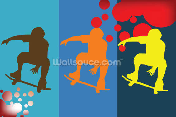 Skateboarders Wallpaper Wall Murals