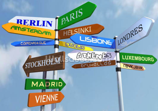 Europe Sign Wallpaper Wall Murals