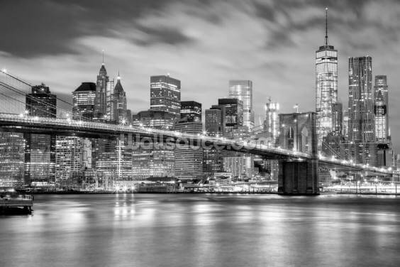 Monochrome Brooklyn Bridge Wallpaper Wall Murals
