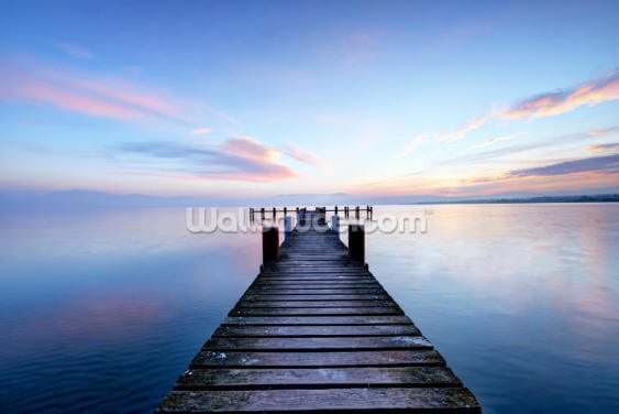 Calm Jetty View Wallpaper Wall Murals