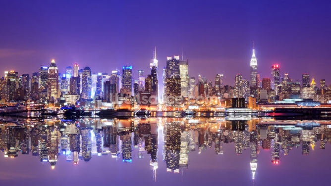 Manhattan Reflections Wallpaper Wall Murals
