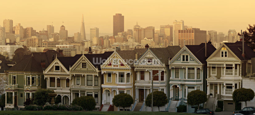 Old Houses, San Francisco Wallpaper Wall Murals