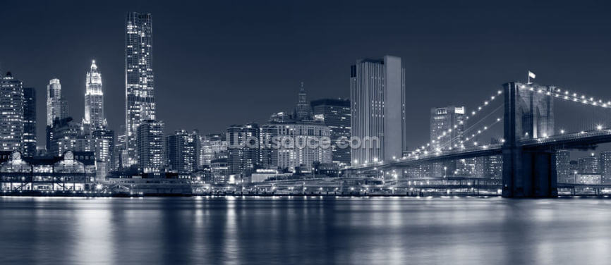 Manhattan at Night Wallpaper Wall Murals