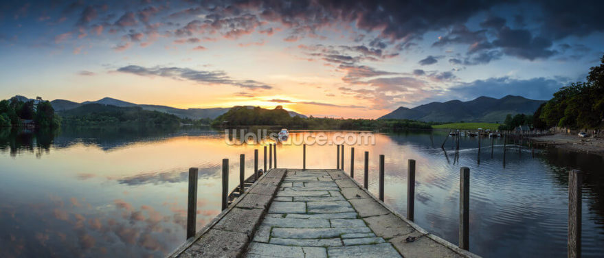 Lake District Pier, Cumbria Wallpaper Wall Murals