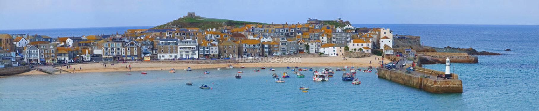 St Ives Panoramic, Cornwall Wallpaper Wall Murals