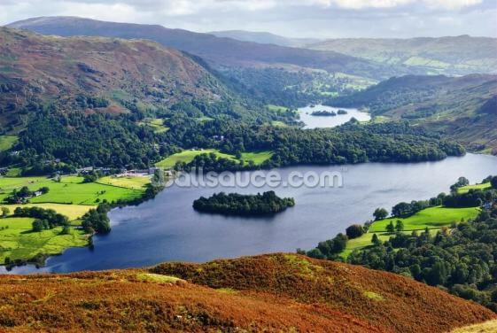 Grasmere from Silver Howe Wallpaper Wall Murals