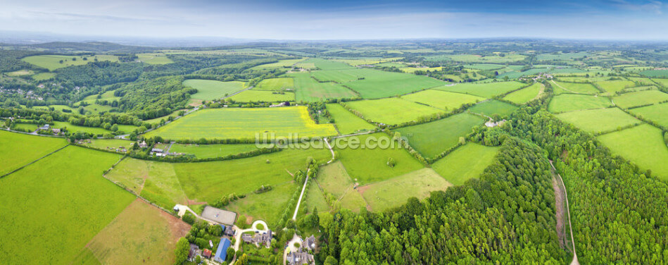 The Cotswolds, Ariel View Wallpaper Wall Murals