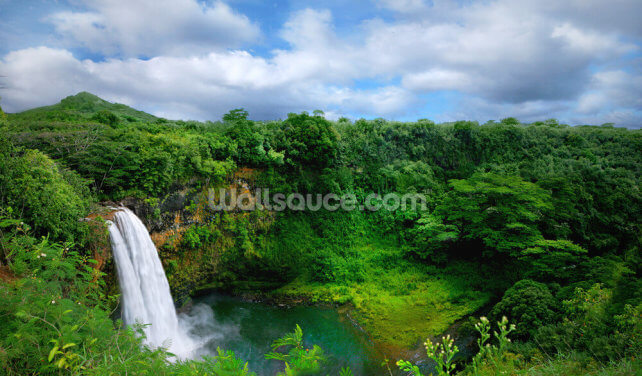 Hawaii Waterfall Wallpaper Wall Murals