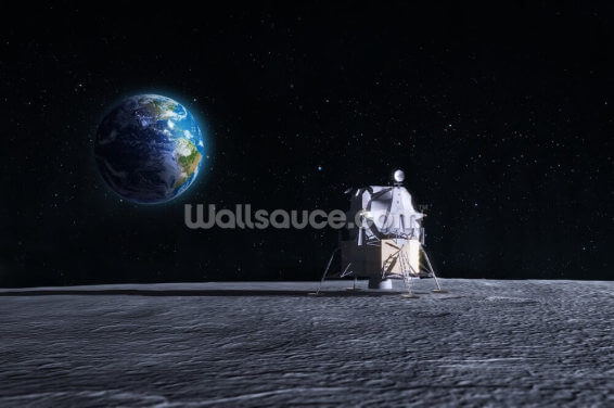 Moon Landing Wallpaper Wall Murals