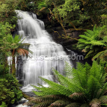 Rainforest Waterfall Wallpaper Wall Murals