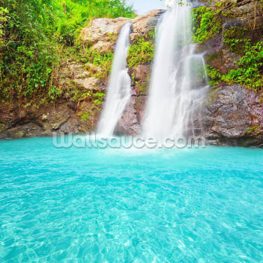 Tropical Waterfall Wallpaper Wall Murals