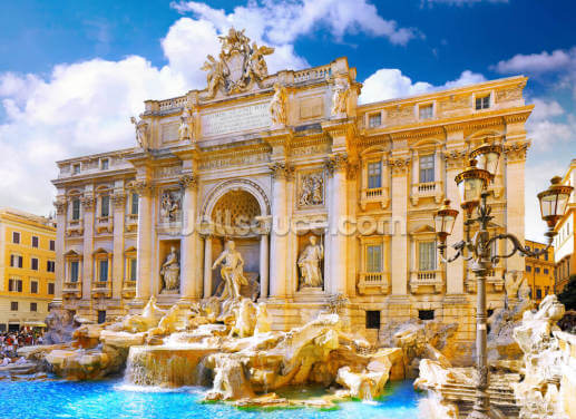 Trevi Fountain, Rome Wallpaper Wall Murals