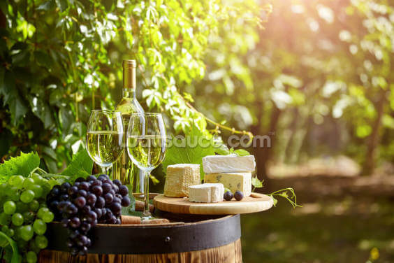 Cheese and Wine Wallpaper Wall Murals