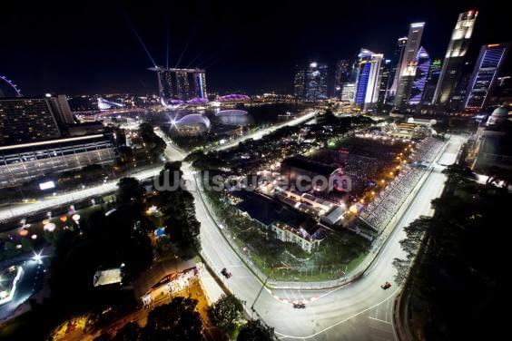 Marina Bay Street Circuit, Singapore (Landscape) Wallpaper Wall Murals