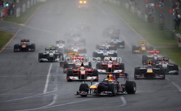 Start of the Australian Grand Prix, 2010 Wallpaper Wall Murals