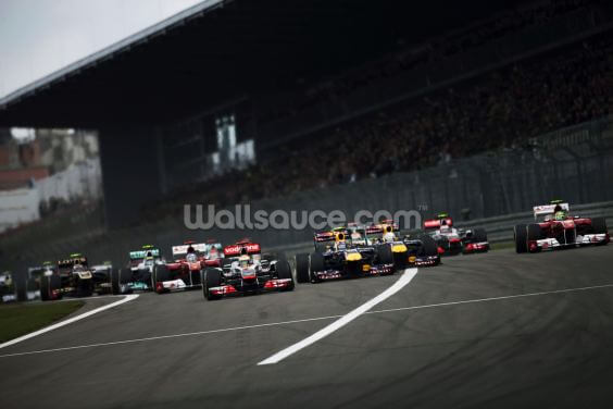 Start of the German Grand Prix 2011 Wallpaper Wall Murals