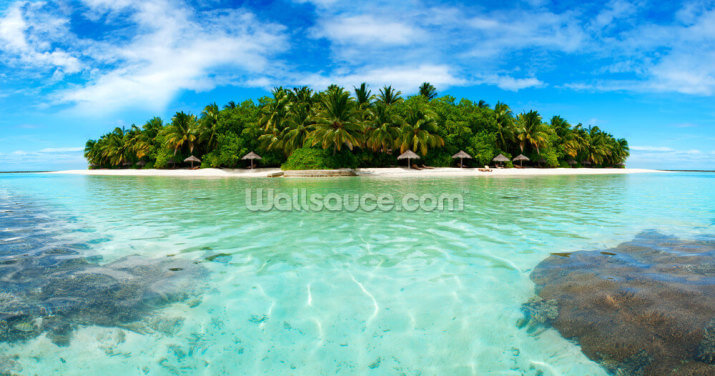 Maldive Island Wallpaper Wall Murals