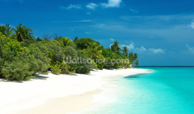 Beautiful Maldives Beach Wallpaper Wall Murals