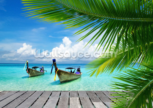 Tropical Sea View Wallpaper Wall Murals