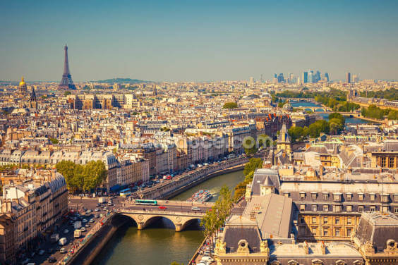 Aerial View of Paris Wallpaper Wall Murals