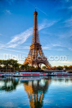 Eiffel Tower Reflection Wallpaper Wall Murals
