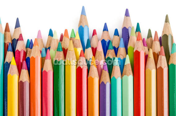 Pencil Crayons Wallpaper Wall Murals