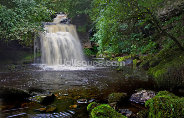 West Burton Waterfall Wallpaper Wall Murals