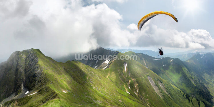 Paraglider in the Mountains Wallpaper Wall Murals