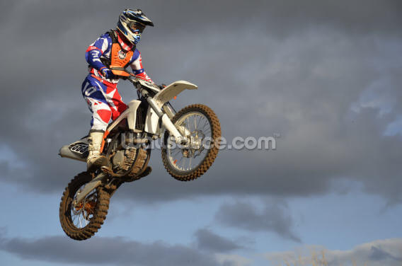 The Spectacular Motocross Jump Wallpaper Wall Murals