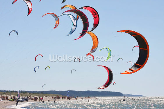 Kiteboarding Competition Wallpaper Wall Murals