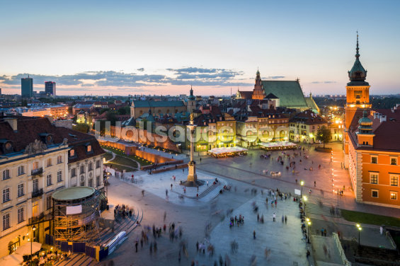 Warsaw Old Town Sunset Wallpaper Wall Murals