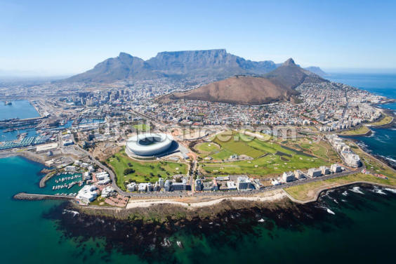 Cape Town Ariel View Wallpaper Wall Murals