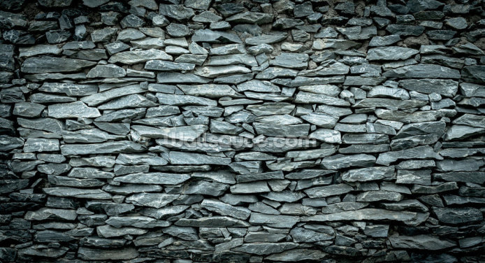 Black and Grey Stone Wallpaper Wall Murals