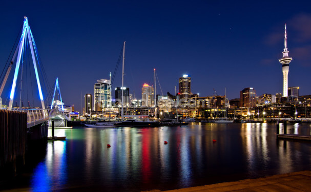 Auckland Nightime Wallpaper Wall Murals