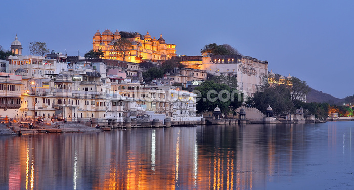 Udaipur Sunset Wallpaper Wall Murals