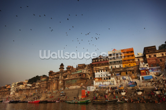 River Ganges, Varanasi Wallpaper Wall Murals