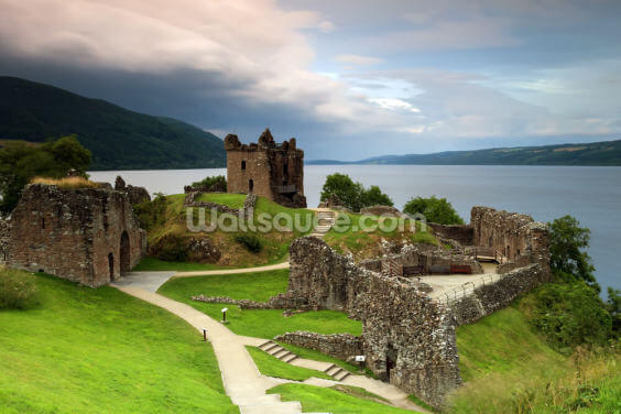 Loch Ness Urquhart Castle Wallpaper Wall Murals