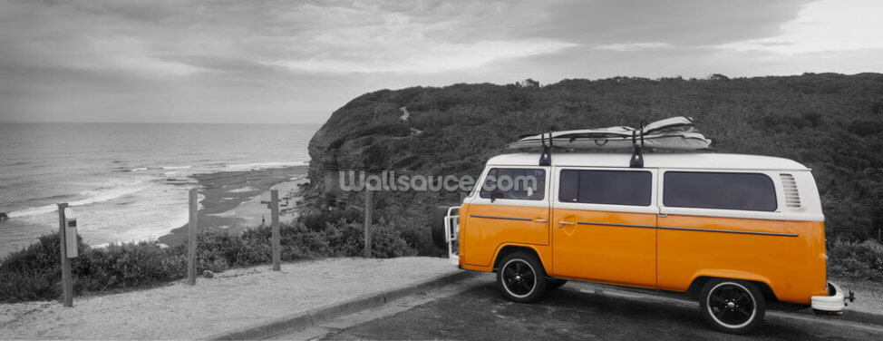 VW Camper Colourwash Wallpaper Wall Murals
