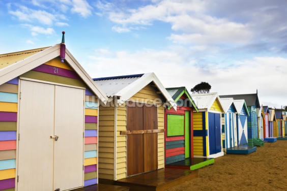 Brighton Bathing Boxes Wallpaper Wall Murals