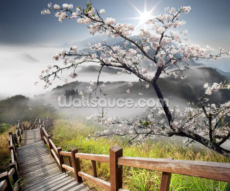 Japanese Walkway Wallpaper Wall Murals