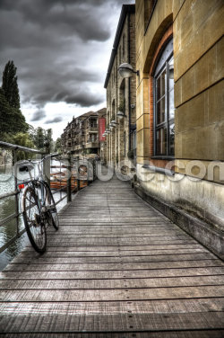 River Cam Walkway Wallpaper Wall Murals