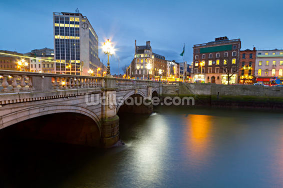 Dublin at Night Wallpaper Wall Murals