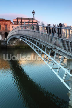 Ha'penny Bridge Dublin Wallpaper Wall Murals