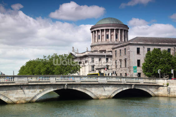 O'Donovan Rossa Bridge & Four Courts Wallpaper Wall Murals