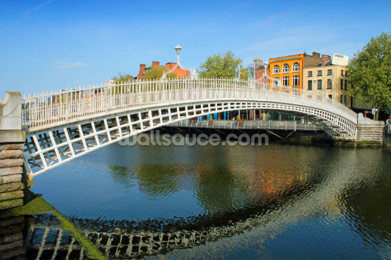 Dublin Bridge Wallpaper Wall Murals