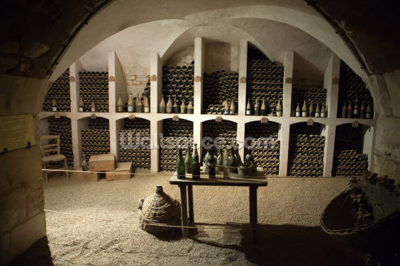 The cellar to the storage of wine in the castle Valencay