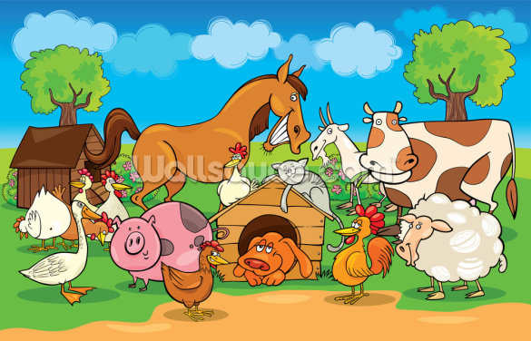Farm Animals Wallpaper Wall Murals