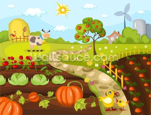 Harvest Time Wallpaper Wall Murals