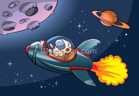 Kids Spaceship Wallpaper Wall Murals