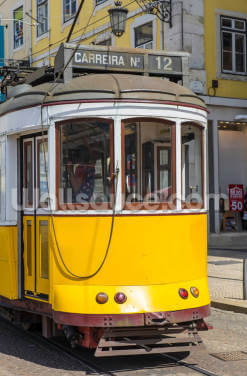 Tram in Lisbon, Portugal Wallpaper Wall Murals